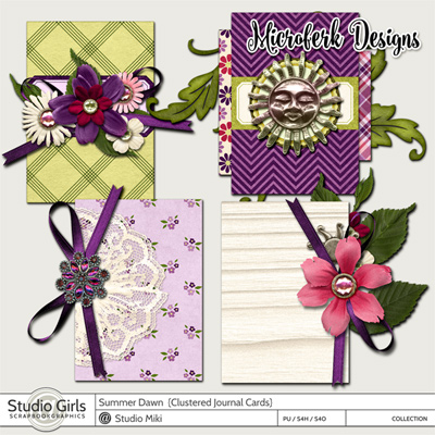 Summer Dawn Clustered Journal Cards