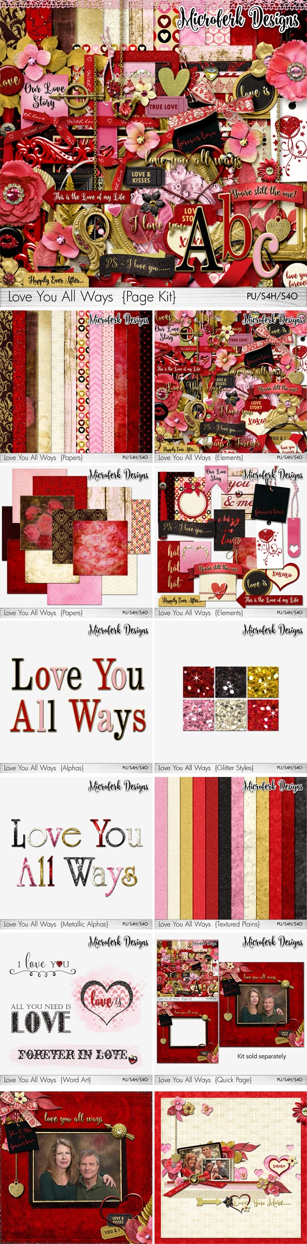 Love You All Ways Page Kit