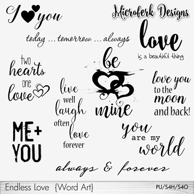 Endless Love Word Art