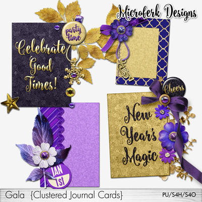Gala Clustered Journal Cards