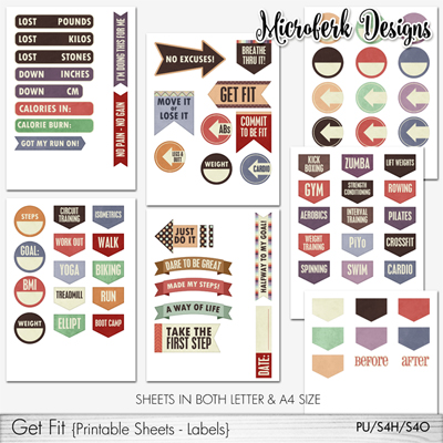 Get Fit Printable Sheets Labels