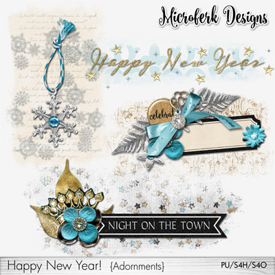 Happy New Year Adornments