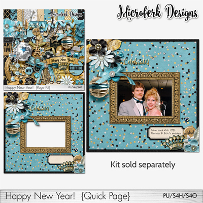 """Happy New Year!"" bundles and add ons - by Microferk Designs at Oscraps- on SALE!"