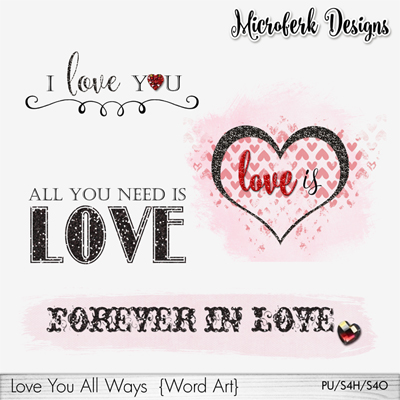 Love You AllWays Word Art