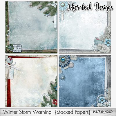 Winter Storm Warning Stacked Papers
