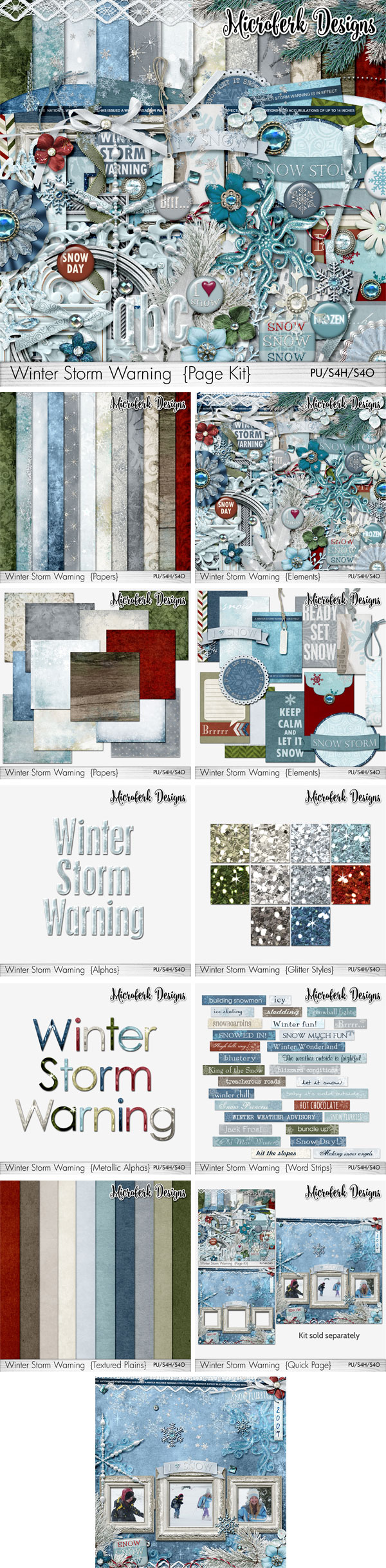 Winter Storm Warning!~ Add Ons and Bundles by Microferk Designs @Oscraps on SALE!
