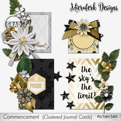Commencement Clustered Journal Cards