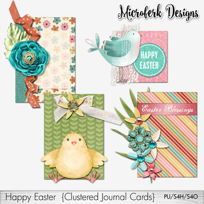 Happy Easter Clustered Journal Cards