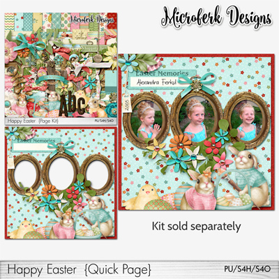 """Happy Easter Collection""- bundles and add ons by Microferk Designs @Oscraps on SALE= FWP!"