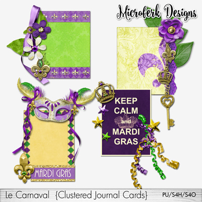 Le Carnaval Clustered Journal Cards