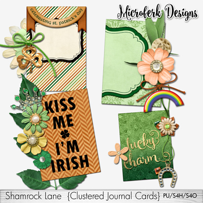 Shamrock Lane Clustered Journal Cards