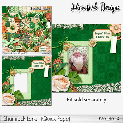 Shamrock Lane Bundles and Add Ons by Microferk Designs @Oscraps- on SALE +FWP!