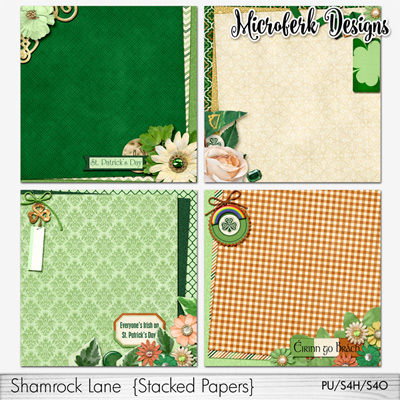 Shamrock Lane Stacked Papers