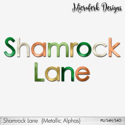 Shamrock Lane Metallic Alphas