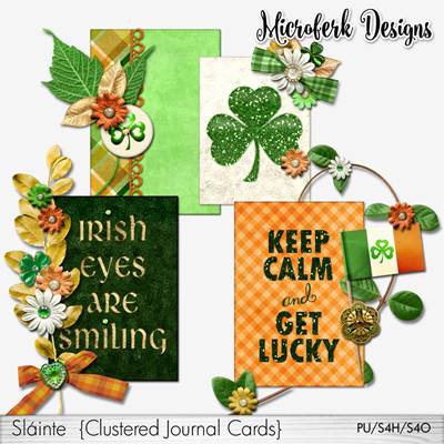 Slainte Clustered Journal Cards