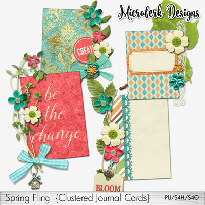 Spring Fling Clustered Journal Cards