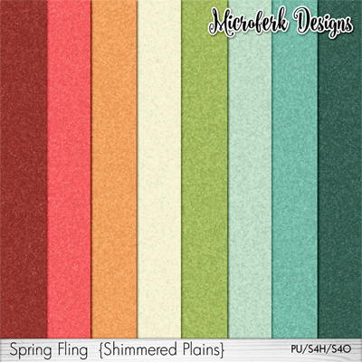 Spring Fling Papers Shimmers