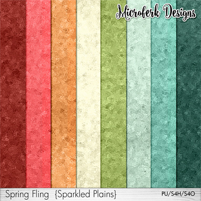 Spring Fling Papers Sparkles