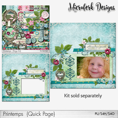 """Printemps"" Add Ons and Bundle by Microferk Designs @Oscraps"