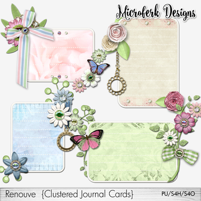 Renouve Clustered Journal Cards